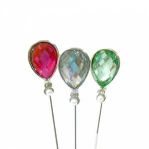 Alfileres OUTLET - Alfiler especial 91 (Lágrima Cristal Colores) - SOLO COLOR ROSA (Últimas Unidades)