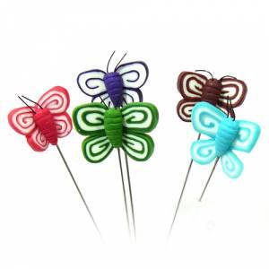 Alfileres fimo - Alfiler clásico Fimo 05 (mariposas colores)