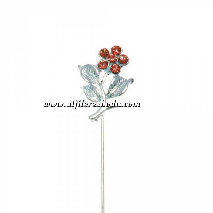 Imagen Alfileres especiales Alfiler Especial 36 (flor tres hojas ROJO) (Últimas Unidades)